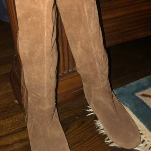 NINE WEST SUEDE/LEATHER BOOTS